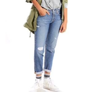 Levi's 501 CT Distressed High Rise Jeans